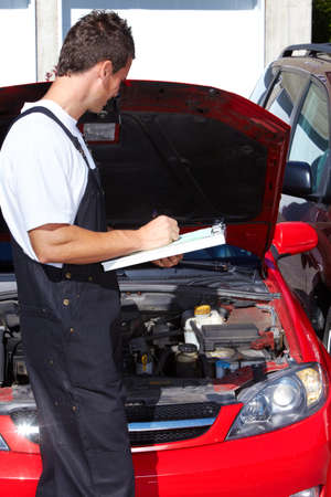 mechanical men: Auto mechanic. Stock Photo