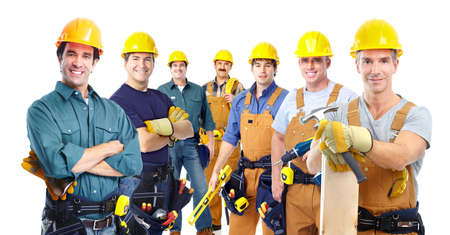 constructors: Group of professional industrial workers.