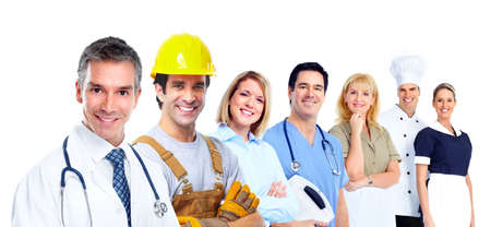 Industrial workers. Stock Photo