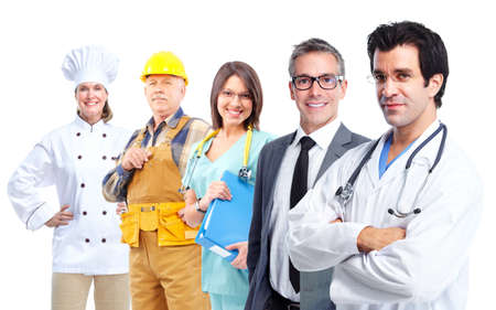 industrial mechanics: Los trabajadores industriales. Foto de archivo