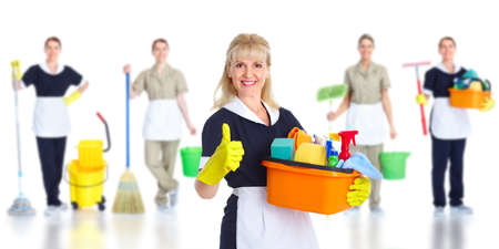 Cleaner maid woman. Stock Photo