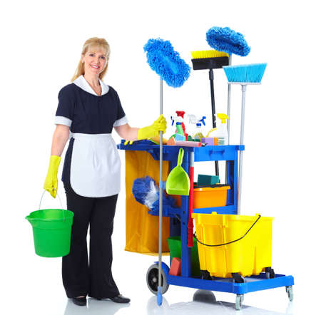 Cleaner maid woman. photo