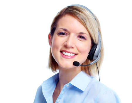telephone headsets: Call center operator.
