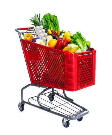 supermarket trolley: Shopping cart.