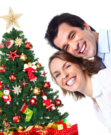 happy christmas: Happy Christmas couple.