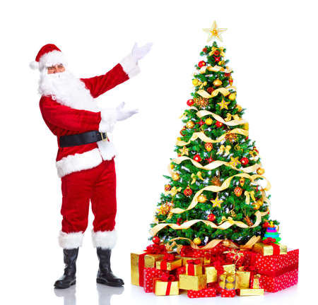st claus: Santa Claus and Christmas Tree.