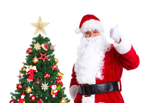 st  nick: Santa Claus and Christmas Tree.