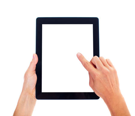 tablet: Tablet computer. Stock Photo