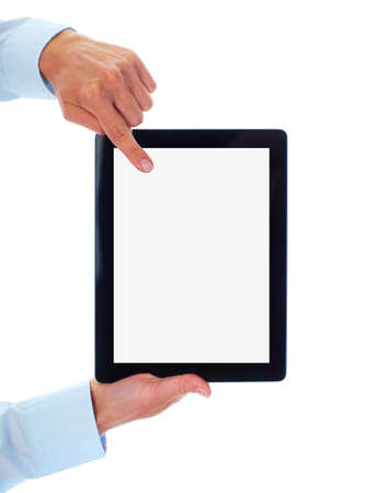 blank tablet: Tablet computer. Stock Photo