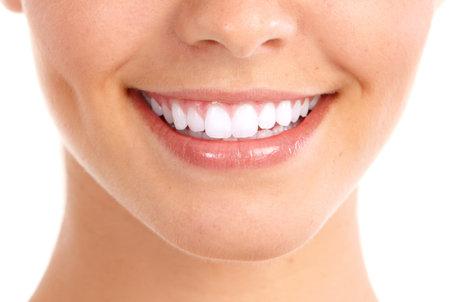 sonrisa: Sonrisa y dientes saludables. Foto de archivo