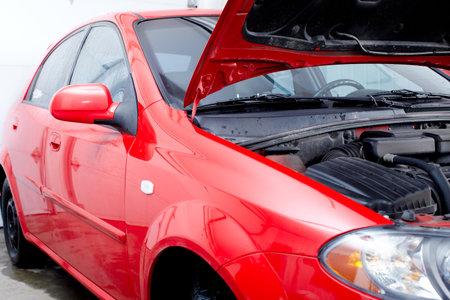 auto repair: Car in auto repair shop.