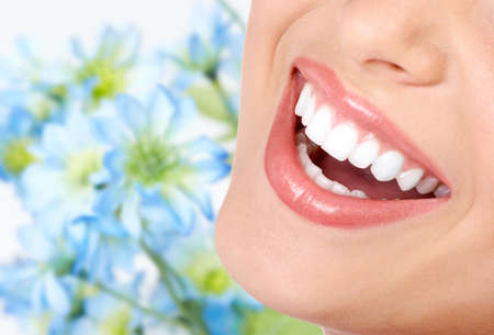 smile teeth: Smile and healthy teeth.