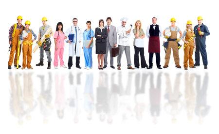 obrero trabajando: Grupo de trabajadores de la industria.