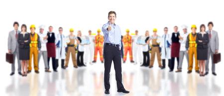 best hand: Grupo de trabajadores de la industria.