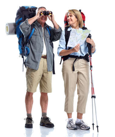 Tourist. Senior couple. photo