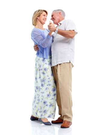 Dancing senior paar in liefde. Stockfoto