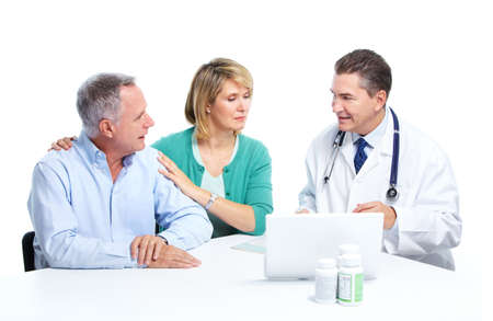 Doctor and patient senior couple. Stock Photo - 11454565