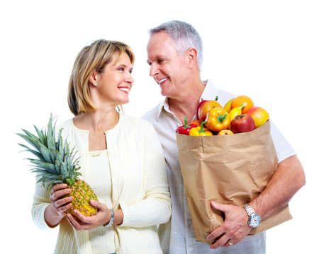 Senior couple with a shopping bag. Stock Photo - 11454624
