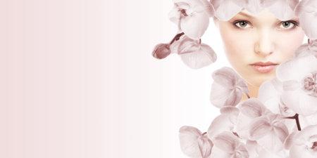 salon and spa: Beautiful woman. Stock Photo