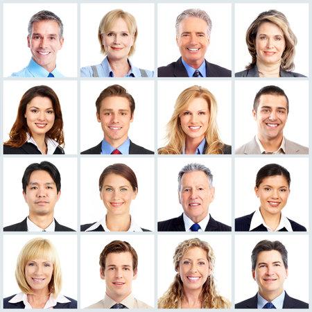 collage caras: La gente de negocios del equipo.