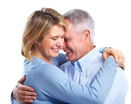 Happy senior couple in love. photo