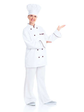 baker: Beautiful professional chef woman.