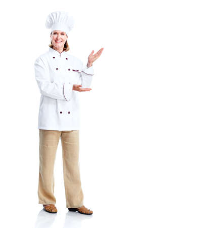 Beautiful professional chef woman. photo