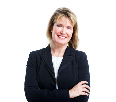 bookkeeper: Mujer de negocios ejecutiva. Foto de archivo