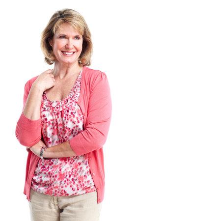 mature woman: Senior lady. Stock Photo