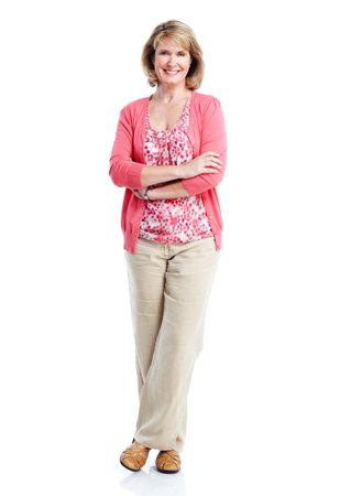 full length: Senior lady. Stock Photo