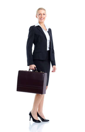 Business woman accountant. photo