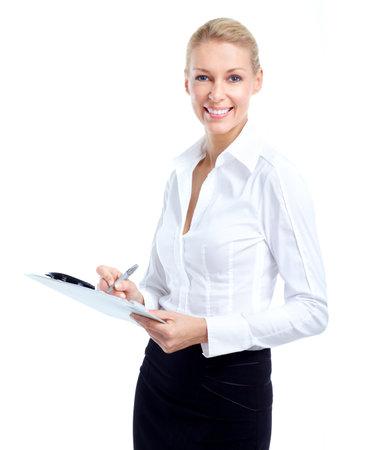 Business woman accountant. photo