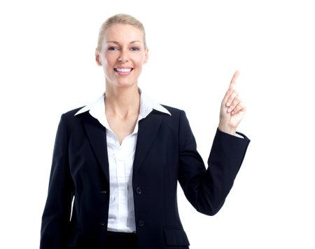 Business woman accountant. Stock Photo
