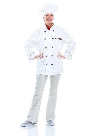 woman baking: Chef woman.
