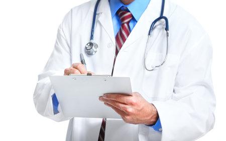 medico con paciente: El hombre m�dico.