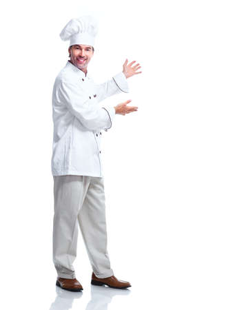 Young professional chef man.