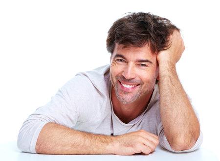 odontologia: Hombre feliz.