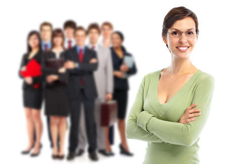 employees group: Business people team. Stock Photo
