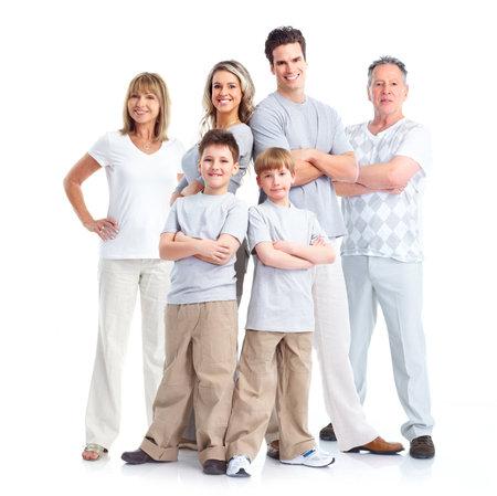 convivencia familiar: Familia feliz.