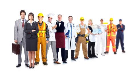 industrial: Group of industrial workers.