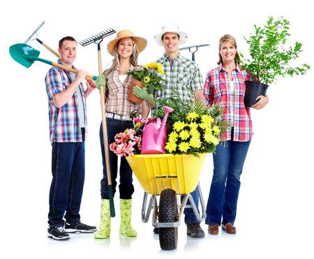 jardineros: Jardinería Foto de archivo