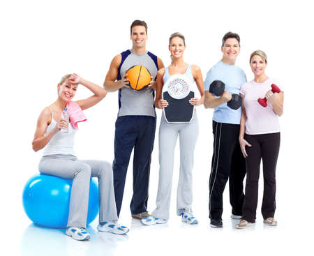 equipment: Gym and Fitness. Smiling people.