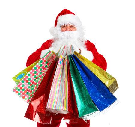 santa clause: Santa Claus with a shobbing bag. Stock Photo
