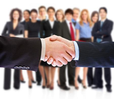 Handshake. Business people meeting. photo