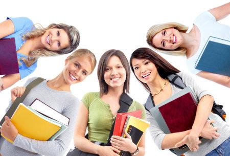 adolescentes estudiando: Estudiantes ni�as.