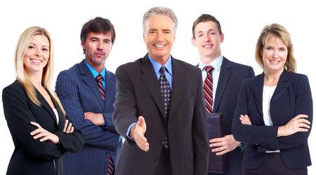 Businessman with handshake. Teamwork. Imagens
