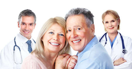 Medical doctor and elderly couple patient. Stock Photo - 11479065