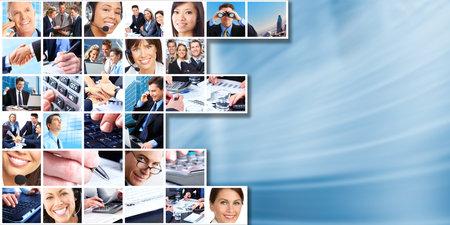 회사: 비즈니스 사람들이 그룹 콜라주. 스톡 사진