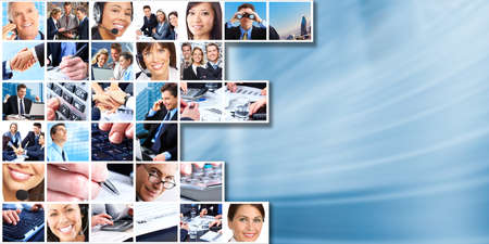 Business people group collage. photo