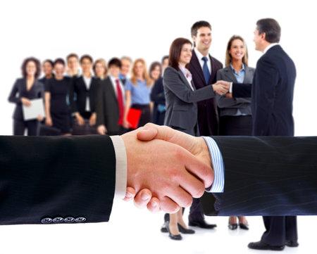 la société: Les gens d'affaires poignée de main.